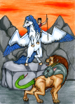 Bellerophon_Slays_the_Chimaera_by_Lady_Blackdove